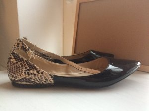 BCBGeneration Ballerinas with Toecap black-light brown