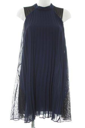 BCBGeneration Chiffonkleid dunkelblau-schwarz 20ies-Stil