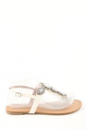 BCBGeneration Flip-Flop Sandals natural white casual look
