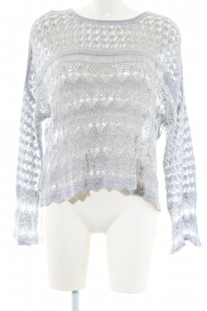 BCBGeneration Crochet Sweater light grey casual look