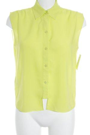 BCBGeneration Kurzarm-Bluse neongelb-limettengelb extravaganter Stil