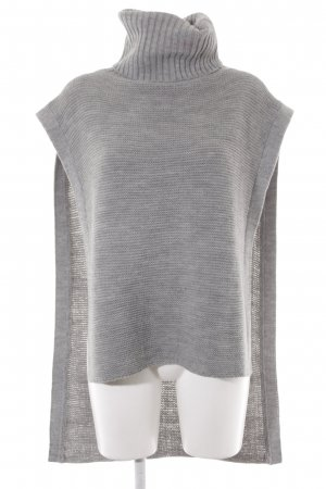 BCBGeneration Long Cardigan slate-gray weave pattern fluffy