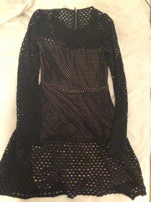 BCBGMAZAZRIA Netz-Cutout Kleid (neu mit Etikett)