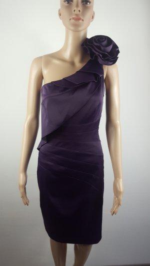 BDBA Damen Minikleid Abendkleid Satin Cocktailkleid lila Größe S wie NEU