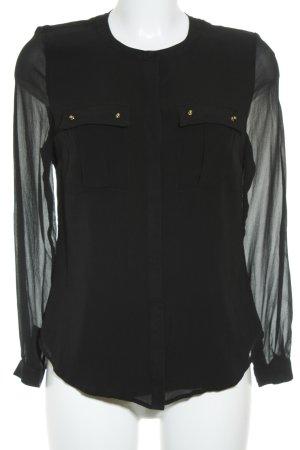 bdba Langarm-Bluse schwarz Casual-Look