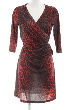 bdba Longsleeve Dress red-black allover print elegant