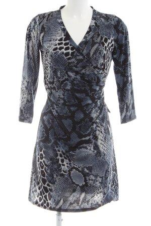bdba Longsleeve Dress blue-light grey animal pattern casual look