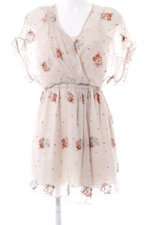 bdba Mini vestido beige estilo romántico