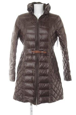 bdba Gewatteerde jas bruin quilten patroon klassieke stijl