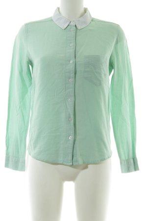 BDG Camicia blusa turchese stile professionale