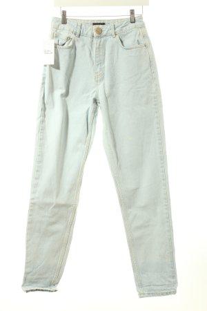 BDG High Waist Jeans blassblau Washed-Optik