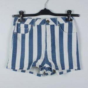 BDG High waist short wit-blauw Katoen