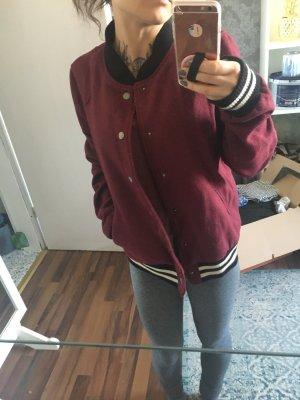 BDG College Jacket brown red-blackberry-red