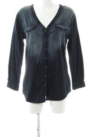 BDG Jeansbluse schwarz Farbverlauf Casual-Look