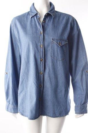 Camicia denim blu fiordaliso