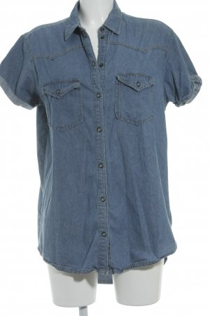 BDG Short Sleeve Shirt cornflower blue country style