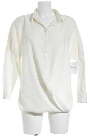 BDG Langarm-Bluse wollweiß klassischer Stil