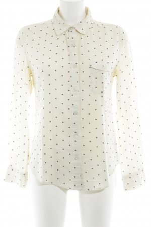 BDG Long Sleeve Shirt natural white-black spot pattern casual look
