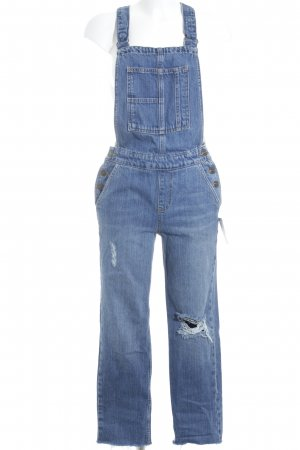 BDG Dungarees blue distressed style