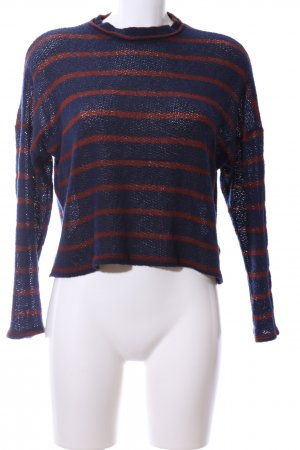 BDG Crewneck Sweater blue-red striped pattern casual look