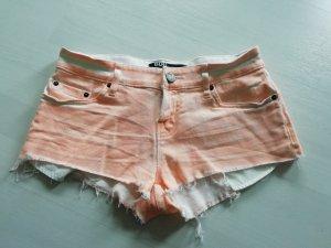 BDG Hot pants bianco-arancio neon