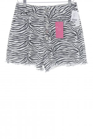 BDG Shorts black-natural white animal pattern casual look