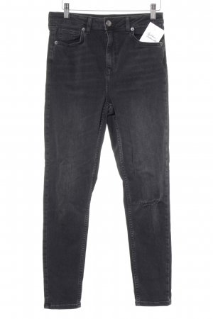 BDG Skinny Jeans schwarz-silberfarben Destroy-Optik