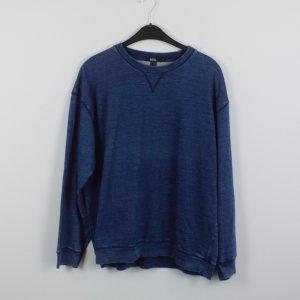 BDG Sweatshirt Gr. M blau meliert oversized (18/10/194)