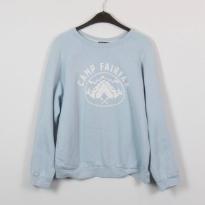 BDG Sweatshirt bleu clair-blanc tissu mixte