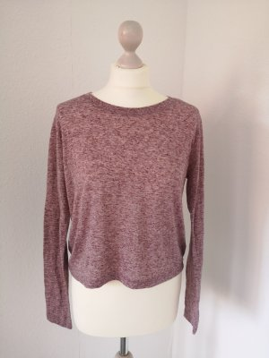 BDG Cropped Shirt mauve-brown red