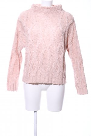BDG Cable Sweater pink cable stitch casual look