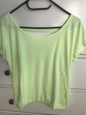Be active - neongelbes Shirt mit sexy Rücken