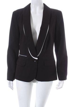 Be Lounged Blazer noir-blanc tissu mixte