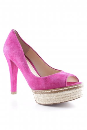 Be Lounged Peep Toe Pumps violet casual look