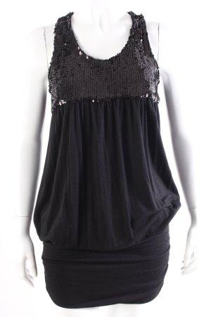 Be Lounged Shirtkleid schwarz mit Pailletten