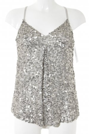 Be Lounged Strappy Top silver-colored-light grey extravagant style
