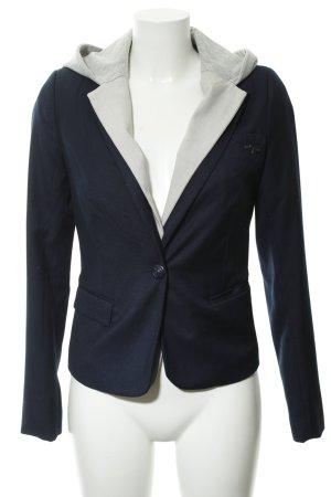 Be only Blazer in jersey blu scuro-grigio chiaro puntinato stile casual