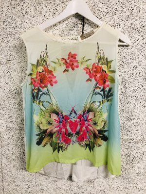 Be Tween Top in seta multicolore