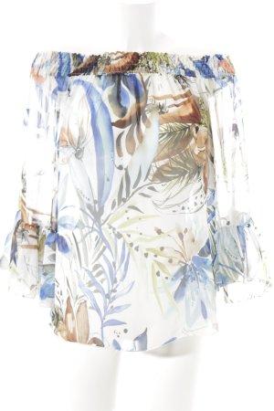 Be Tween Transparenz-Bluse Blumenmuster Transparenz-Optik