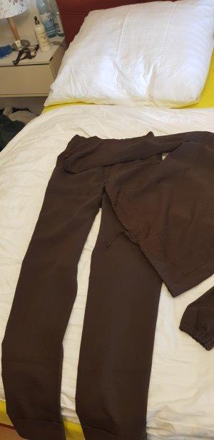 Pantalon grijs-bruin