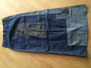 Be You - Toller Jeansrock Maxirock mit Print Gr. 34