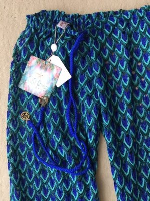Pantalon palazzo multicolore nylon