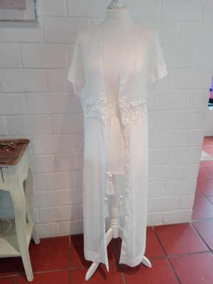 Beach Look Kimono Kaftan weiß 34/36/38 neu H&M Boho-Look Ibiza Romantisch