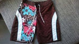 Beach Shorts mit Hawaii-Muster