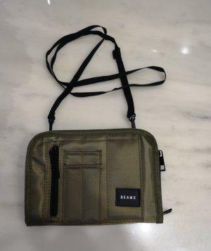 BEAMS Japan praktischer Travel Bag cross-body Schultertasche khaki x orange