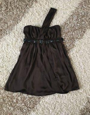 Beandeaukleid Kleid Party sexy braun Gr. 34 S Ziersteinchen Mango