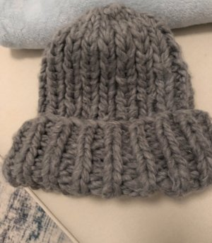 Zara Knitted Hat grey-silver-colored