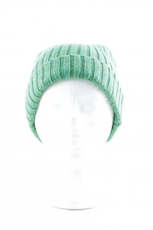 Beanie green-lime yellow flecked minimalist style