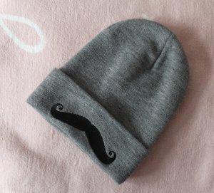 Beanie Moustache grau Kpop