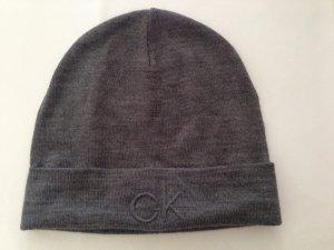 Calvin Klein Knitted Hat grey mixture fibre